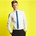 White Cotton School Long Sleeves Shirt