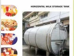 Horizontal Milk Storage tank