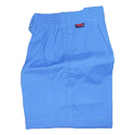 Plain Blue Boys School Uniform Shorts, Size: 20-28