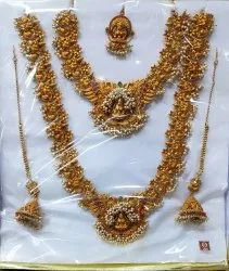 TITHI Wedding Matt Plated Brass Gold South Indian Bridal Jewellery