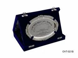 Engraved Pure Silver Personalized Oval Signature Salver for Appreciation Award
