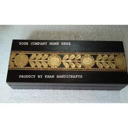 Brown And Golden Decorative Gift Wooden Box