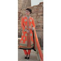 Ladies Semi-Stitched Embroidered Stylish Suit