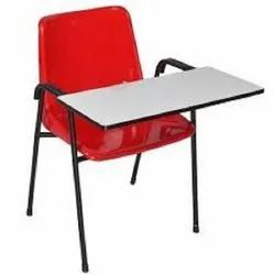 PVC Full Clamp Wooden Writing Pad Chair