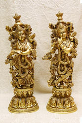 Beautiful Radha Krishna Statue 21 x 7 x 5  Inch