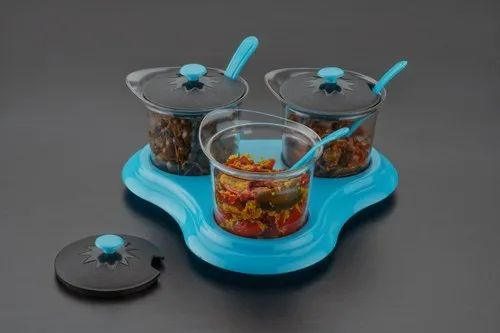 Plain Spice Storage Containers and Spoon-Multipurpose Spice Jar Set