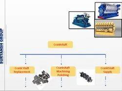 Crankshaft Services for Engine Wartsilla , MWW, Caterpillar , MAn