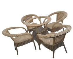 Universal Furniture Garden & Balcony Table with 4 Chairs