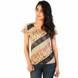 Designer Printed Ethnic Cotton Top
