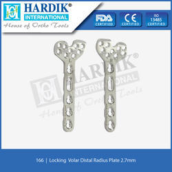 Locking Volar Distal Radius Plate 2.7mm