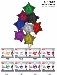 17 Plain Star Shape Foil Balloon (10 Pcs Pack)