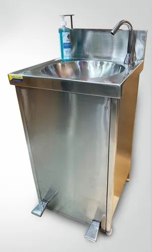 Foot Operated Hand Sink With Soap Dispenser