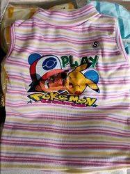 Hi-Neck Cotton Kids High Neck Striped T-Shirt