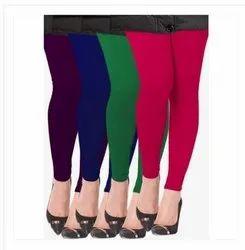 Cotton Straight Fit Multicolored Leggings