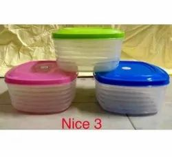 Nice 3 Plastic Containers 450ml