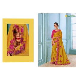 Party Wear Embroidered Pari E-1304 Rajguru Ladies Sarees, 6 m (with blouse piece)