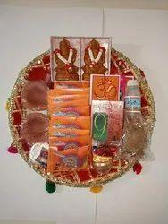 Diwali Gifts Pujan Thali, For Diwali Pujan Material