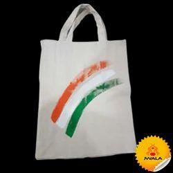 9dc582311c5 Only Plain White Color None Tricolor Cloth Bag, Rs 20 /piece | ID ...