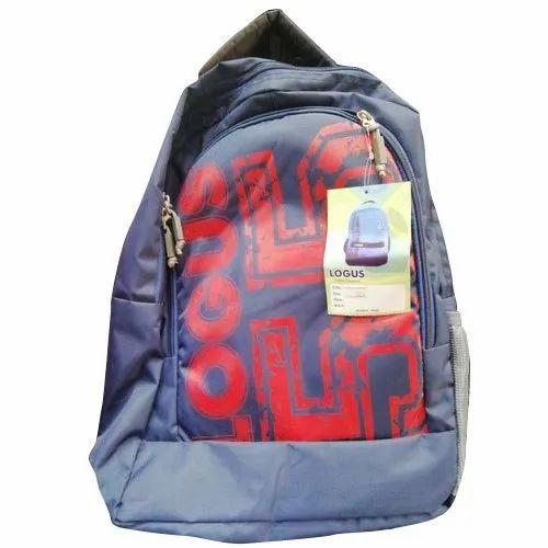 be78d716eff7 Polyester Dark Blue Printed School Bag