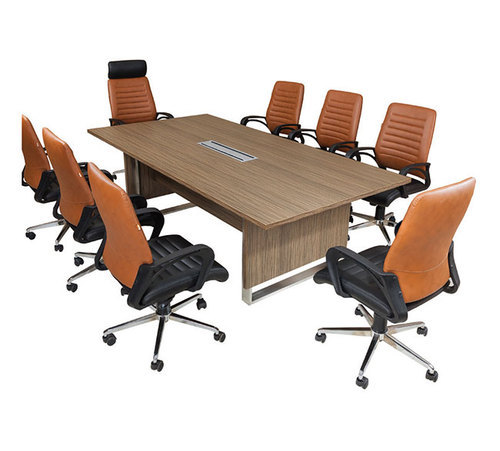 Wooden Rectangular Seater Conference Table Rs Piece ID - 8 seater conference table