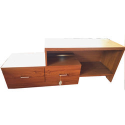 Brown Wooden TV Stand, Size: 1.5 Feet Height