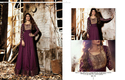 Faux Georgette Purple Embroidered Anarkali Suit