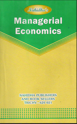 P M Meera Mohiadeen Nahidha Managerial Economics Book, Mba Bba Mcom