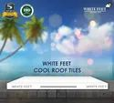 Weather Proof Tile White Feet