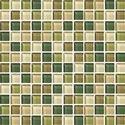 Green Rainforest Glass Mosaic