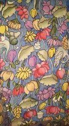 Cotton Multicolor Kalamkari Design Material, Size: Medium
