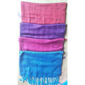 Viscose Dobby Shawls With Fringes