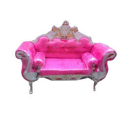 Stainless Steel Pink Wedding Sofa