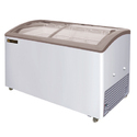310 Liters Curved Glass Top Large Glass Top Chest Freezer, Top Loading, Double Door
