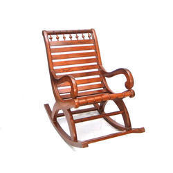 Brown Wood Rocking Chair