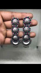 Silver Earrings For Ladies