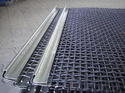 Black / White Woven Wire Mesh Spring Steel Wire Mesh With Edge Preperation