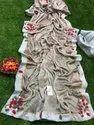 Gota Patti Work Ivory Printed Shiffa Chiffon Saree