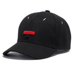 Men Black Promotional Designer Cap