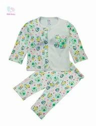 Kids Printed Front Open Shirt With Printed Pant