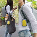 Grey and Yellow XD Design Bobby Compact Anti Theft Laptop Backpack