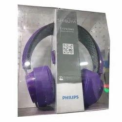 ddc34079db2 Purple Wireless Philips Shibuya Extra Bass Headset, Packaging Type: Box
