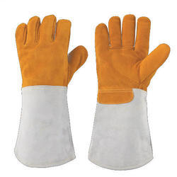 Industrial Welding Leather Cotton Safety Hand Gloves