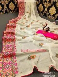 Kashmiri Embroidered Saree