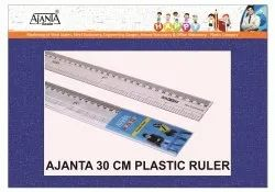 Transparent Ajanta Foot Ruler Plastic 30 CM, 10 Pieces
