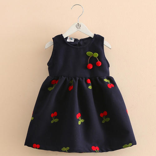 131b1aa0d149 Cute Navy Fruit Embroidered Dress at Rs 775  piece