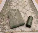 Multicolor Chanderi Silk Embroidery Work Top