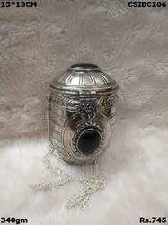 Handmade Brass Metal Black Stone Clutch