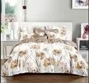 Cotton King Size Floral Bed Sheet, For Home