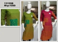 Stylized Fabric With Patchwork Kurti