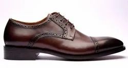 Formal Lace Up Leather Cap Toe Derby Shoes, Size: 6-10